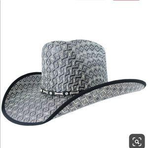 Western hat black and white unisex